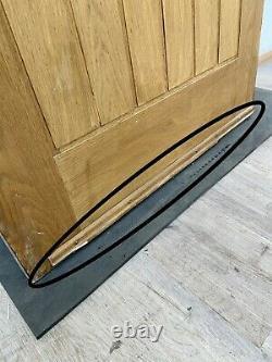 Handmade-bespoke Wooden Front Entrance Door-engineered Oak Veneer-porthole-green