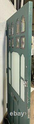 Handmade-bespoke Wooden Front Entrance Door-hardwood-frosted-lead-stained Glass