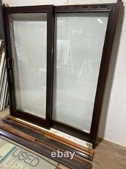 Handmade-bespoke Wooden Sliding Patio Doors-timber-brown-external-exterior-used
