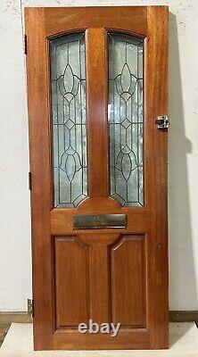 Handmade-bespoke-wooden Front Entrance Door-hardwood-decorative Glass-external