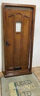Handmade-bespoke-wooden Front Entrance Door-hardwood-solid Oak-porthole-external