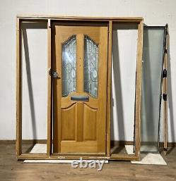 Handmade-bespoke-wooden Front Entrance Door-hardwood-solid Oak-veneer-sidelights