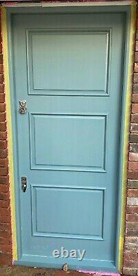 Handmade-bespoke-wooden Front Entrance Door-hardwood-tall-banham-solid Oak-1930s