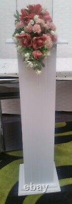 Handmade, made to order, White Wooden Square Pedestal Stands, 100cm X 2