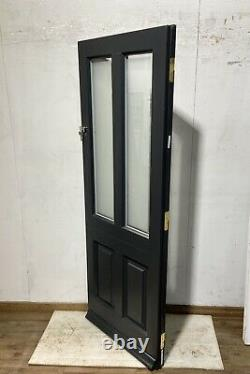 Handmade-timber Windows-bespoke Wooden Front Entrance Door-grey-frosted Glass