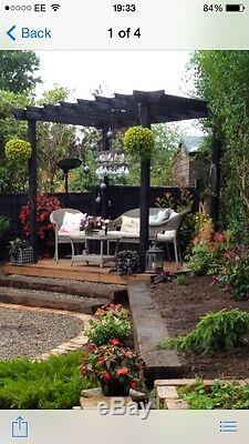 Handmade wooden garden Pergola structure 10ft X 10ft or made to measure