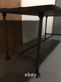 Handmade wooden industrial scaffold board high table/bar