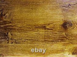 Handmade wooden narrow, long, hairpin legs, dark waxed table desk bar 180 x 40cm