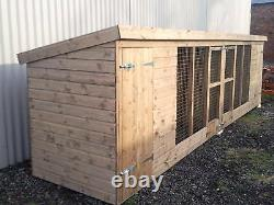 Kennel & Run, Double Kennel and runs From £605
