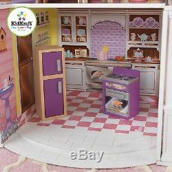 Kidkraft Country Estate Dollhouse, Large Wooden Doll Mansion fits Barbie Dolls