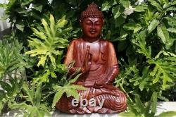 Large 20 Wooden Buddha Statue Hand Carved Buddha Figure Buddha Carving Wood