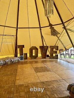 Large 5ft Wooden Rustic Love Letters For Hire Wedding Party Free Delivery