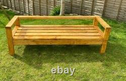 Large Solid Wood Outdoor Sofas Standard or Corner variations