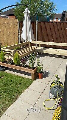Large Wooden Outdoor Sofa Garden/ Patio