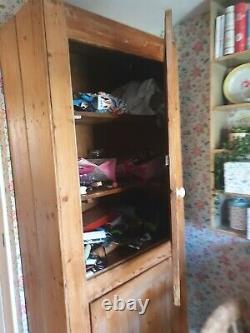 Large wooden Pantry Larder Storage Cupboard, Victorian, pine, vintage, farmhouse