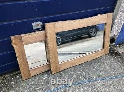 MADE TO ORDER 110cm X 50cm Large Handmade Oak Wooden Mirror Frame. Horizontal