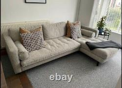 Made. Com Sofa Grey Right Hand Facing L Shaped Corner Sofa On Wooden Legs