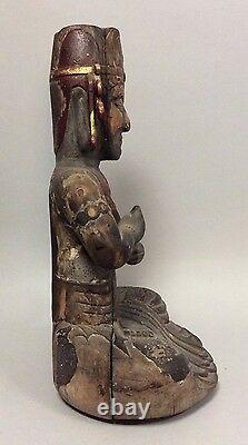 Museum-Quality, Antique, Japanese Wooden Sculpture-Statue of Buddha 13th Century