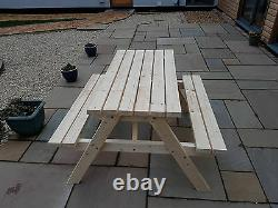 New Hand Made wooden 4ft Pub Garden table Picnic Bench Seat Bargain