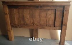 New Solid Wood Rustic Chunky Double, King-size, Super-king Panel Bed Wooden Bed
