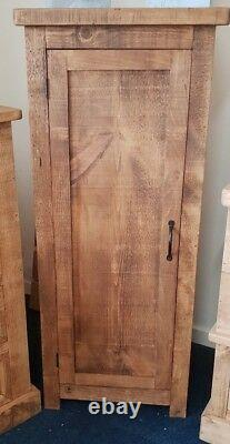 New Solid Wood Rustic Chunky Hall Cupboard, Wooden Cupboard Made To Measure