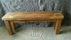 New Solid Wood Rustic Chunky Plank Wooden Bench Made To Measure