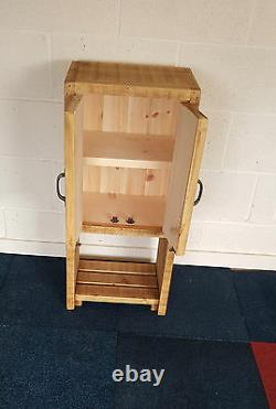 New Solid Wood Rustic Chunky Wooden Plank Small Bathroom Unit Made To Measure