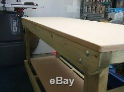 New hand made 6ft heavy duty wooden work bench mdf top