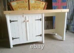 Nice Wooden Pine Freestanding Cupboard Unit Appliance Gap Housing Utility Room