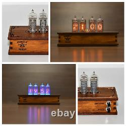 Nixie Tube Clock 4x Z573 Nixie Tubes Vintage Retro Desk Table Wooden Assembled