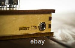Nixie Tube Clock 4x Z573m Nixie Clock Vintage Retro Desk Table Clock Wooden Case