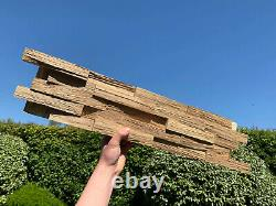 Oak Wall Cladding, Contemporary 3D Wood Panelling, Decorative Wall Panelling