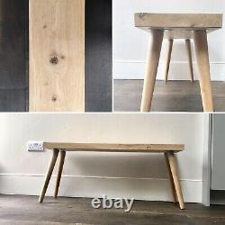 Oak bench/oak bed end bench/seating dining bench with wooden oak legs