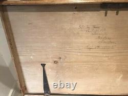 Old Antique PINE CHEST, Wooden TRUNK, Coffee TABLE, Toy Storage Vintage Tool BOX