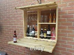 Outdoor Bar Wine Beer Gin Drinks Garden Party Home Drinks Wooden Wall Cabinet