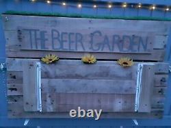 Outdoor Homemade Bar beer garden Garden Reclaimed Timber Wooden Handmade bbq bar
