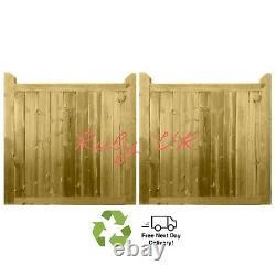 Pair of Premium Driveway Gates, Cottage Entrance Gates. Handmade wooden Gates