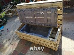 Pallet garden furniture seats and a table, additional side tables and bars