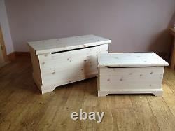 Personalised Painted Toy Box Chest Handmade Wooden children