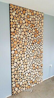 REAL WOOD TILE Logs slices, Wood Panels, Wooden Panelling, cladding, Wood Panel
