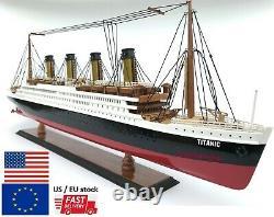 RMS Titanic Model Ship Boat Ocean Liner 23 60cm Wooden White Star Line Cruise