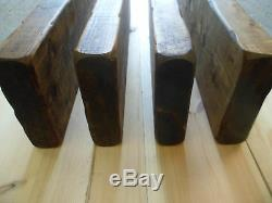 RUSTIC STYLE CHUNKY FLOATING SHELVES WOODEN 4 SHELF PACK FREE DELIVERY 100cm