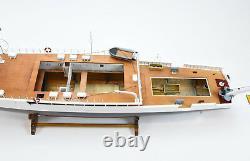RV Calypso Research Vessel Handmade Wooden Ship Model 48 RC Ready