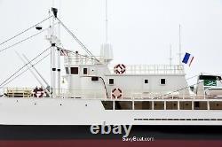 RV Calypso Research Vessel Handmade Wooden Ship Model 48 Scale 135 RC Ready