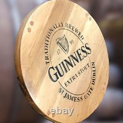 Recycled Wooden Solid Oak Whisky Barrel Stave Guinness Branded Bar Stool Vintage