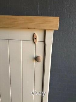 Rustic Wooden Pine 2 Door Freestanding Kitchen Handmade Cupboard Pantry Larder