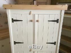 Rustic Wooden Pine Freestanding Kitchen Handmade Cupboard Unit Pantry Larder