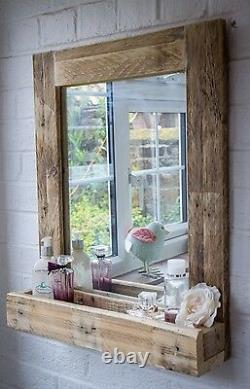 Rustic Wooden Serving Tray made from reclaimed pallet wood Handles on Top