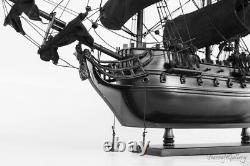 SEACRAFT GALLERY Black Pearl Caribbean Pirate Handmade Wooden Model Ship 45cm