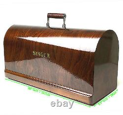 SINGER Sewing Machine Bentwood Carrying Wooden Case Top Cover Lid 201 15 66 27